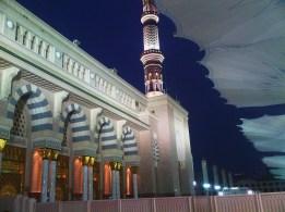 At dawn in Madinah.