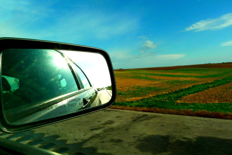 Land of corn fields and okra. Welcome to Iowa.