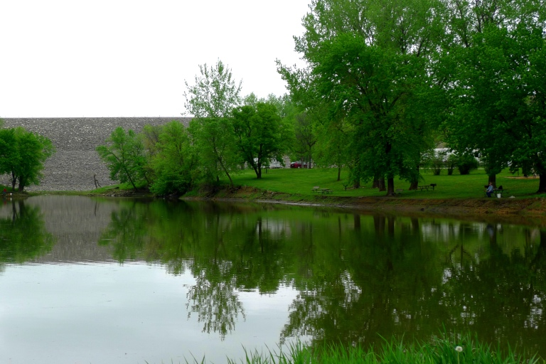 Coralville dam and its recreation parks, North of Iowa City.
